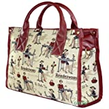 "* SALE * Tapestry Ladies ""Tote 41"" HandBag & Across the Body Shoulder Bag (Cafe) - Gobelin Styleby Green Bear QHS"