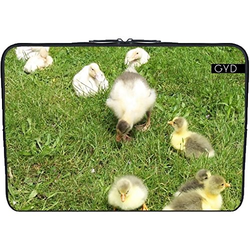 """Coperchio Neoprene Laptop Netbook PC 11.6 """"pollici - Cuccioli Carino, Piccole Anatre by Marina Kuchenbecker"""