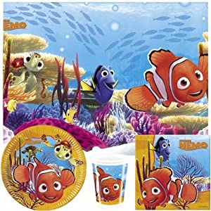 Disney Finding Nemo Party Tableware Pack for 8
