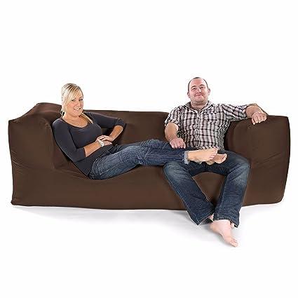 Confortable Canapé Trois Places Bean Bag-Taupe Modulaire Fixe