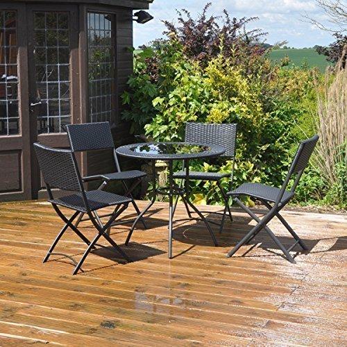 Gartenmöbel – Rattan-Effekt 5 Stück Garten Innenhof Set günstig kaufen