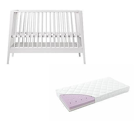 Linea di Leander Lettino–Bianco con Comfort Materasso 60X 120