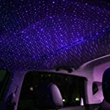 Sizet USB Star Projection Laser 4 Modes Car Interior Roof Light Party Atmosphere Lamp 3 Color Ceiling Decoration Lighting (Color: Purple)