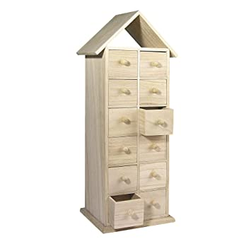 rayher holz adventskalender haus 2 seitig 45x15x12 cm. Black Bedroom Furniture Sets. Home Design Ideas
