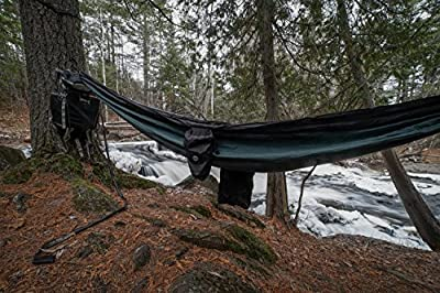 RIO Camping Hammock - Double Wide Camping Travel Hammock - Exterior Shoe Pocket - Portable with Compression Bag Included - Hammocks Support up to 400 Pounds - Tree Ropes & Hooks Included