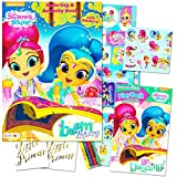 Shimmer and Shine Coloring Book Set -- 2 Books, Over 50 Stickers, Crayons and Licensed