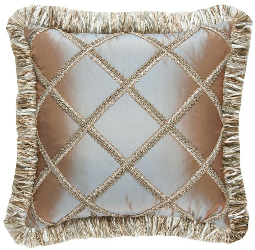 Jennifer Taylor Vellore Collection Pillow, 16-Inch by 16-Inch
