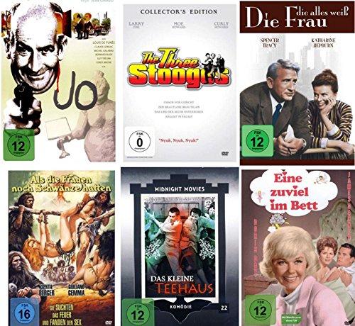 Die Kult Komödien Klassiker Collection (6 Filme auf 6 DVDs mit Jo -Kleine Teehaus - Three Stooges - Eine zuviel im Bett )