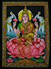 Cotton Fabric Goddess Laxmi  Lakshmi 308243 X 438243 Tapestry