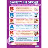 Safety in Sport PE Educational Wall ChartPoster in laminated paper A1 850mm x 594mm