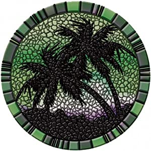 Drop-in Palm Trees Green Mosaic Large