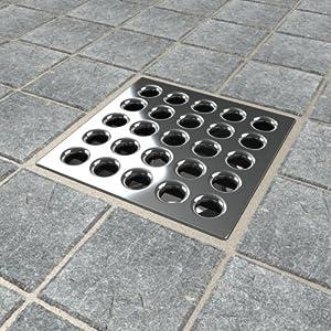 Ebbe E4401 Square Shower Drain Grate, Silver - Bathtub Drains - Amazon