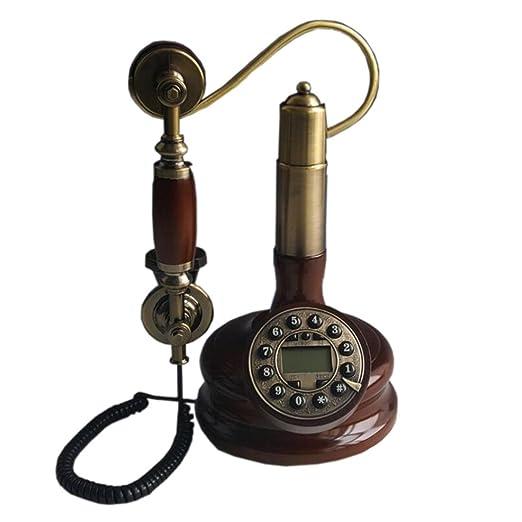 HJXJXJX Style européen Artisanat Retro Bois massif Antique Crochet Formulaire Téléphone