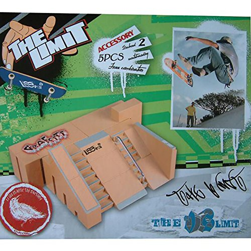 WayIn® 5pcs Skate Park Kit Ramp Parts for Tech Deck Circuit Board Mini Finger Skateboard Fingerboards Ultimate Parks