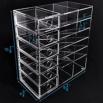 Ikee Design Acrylic 6-Shelf Office Desk Organizer/Caddy Organizer Racks/Desk Supplies Organizer Caddy/Drawer Sorting Desk Storage – Caddies for Office or Teacher Supplies