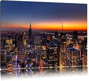 Skyline di new york su tela di canapa immagini xxl for New york alloggio economico