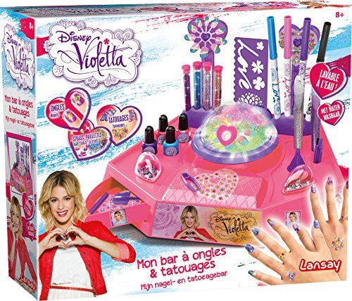 LANSAY - 25205, La mia postazione di bellezza, Kit per la nail art e per realizzare tatuaggi, motivo: Violetta
