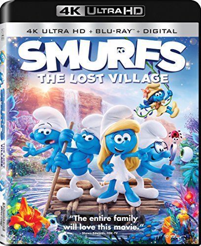 4K Blu-ray : Smurfs: The Lost Village (With Blu-Ray, 4K Mastering, Ultraviolet Digital Copy, Widescreen, Dolby)