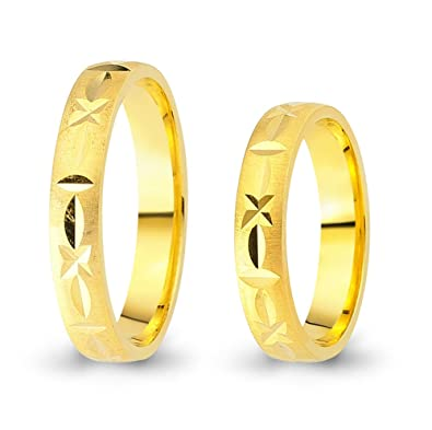 2 Wedding Rings / Friendship Rings 333 Gold Yellow Gold CC6573330