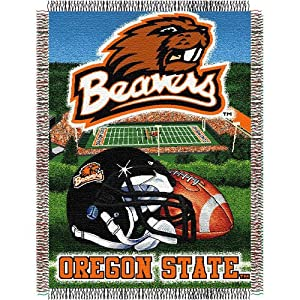 Oregon State Beavers NCAA Woven Tapestry Throw (Home Field Advantage) (48x60) by Northwest