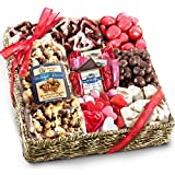 Golden State Fruit Valentines Chocolate, Sweets and Treats Gift Basket, 22 Ounce (Pack of 1)