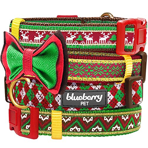 Blueberry Pet Christmas Party Fair Isle Style Dog Collar with ...