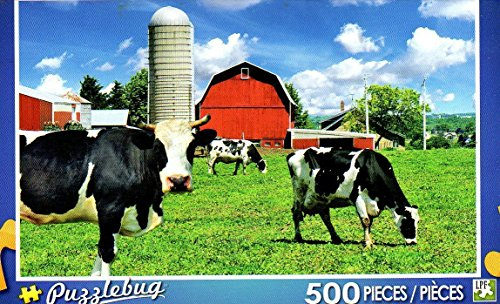Puzzlebug 500 Piece Puzzle ~ Cows on the Farm - 1