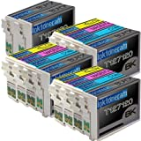 3 Pack , 2 Black of Total 14 Remanufactured Epson 127 (Extra High Capacity) Ink Cartridges Epson 127 T127120 T127220 T127320 T127420 Black Cyan Magenta Yellow