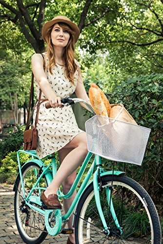 Gama Bikes Women's City Avenue Step-Thru 6 Speed Shimano Hybrid Urban Cruiser Commuter Road Bicycle, 26-inch wheels 2