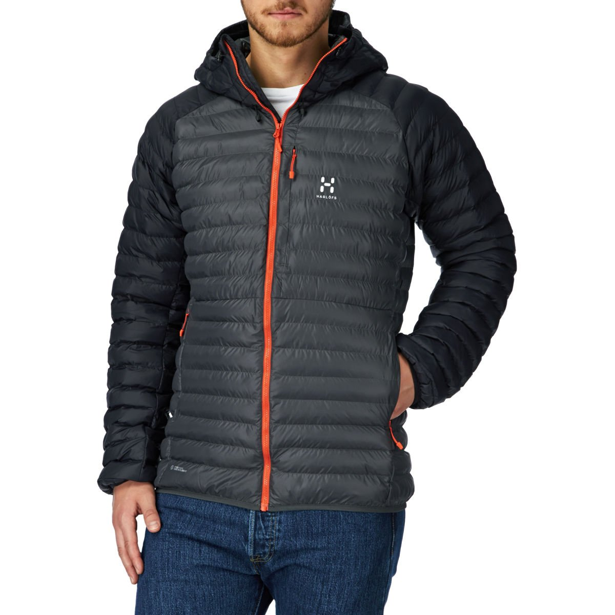 Haglofs Essens Mimic Hooded Jacket – Magnetite/True Black günstig bestellen