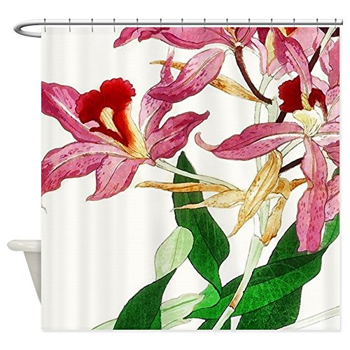 CafePress - Pink Orchid Shower Curtain - Decorative Fabric Shower Curtain (Cafe Press Orchid Shower Curtain compare prices)
