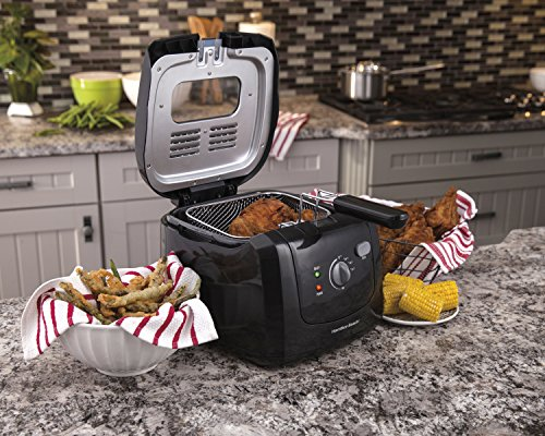 Hamilton Beach Deep Fryer with Cool Touch, 2-Liter Oil Capacity (35021)