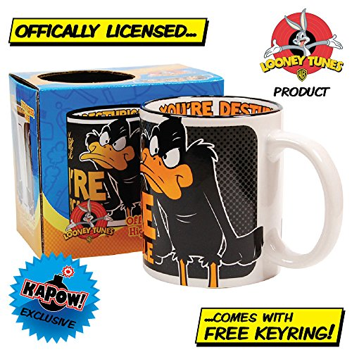 daffy-duck-mug-with-free-keyring-cool-retro-gift-for-him-or-her