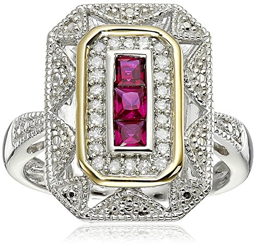 sterling-silver-and-14k-yellow-gold-diamond-and-ruby-art-deco-style-ring