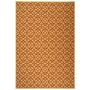 Safavieh Courtyard Collection CY3006 3701 Beige and Red