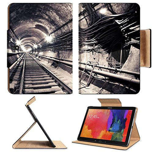 Endless Subway Tunnel Abstract Design Samsung Note Pro 12.2 Flip Case Stand Smart Magnetic Cover Open Ports Customized Made To Order Support Ready Premium Deluxe Pu Leather Luxlady Professional Graphic Background Covers Designed Model Folio Sleeve Hd Temp front-1076919