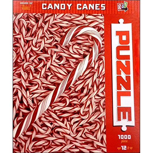 Candy Canes 1000 Piece Puzzle by Go! Games - 1