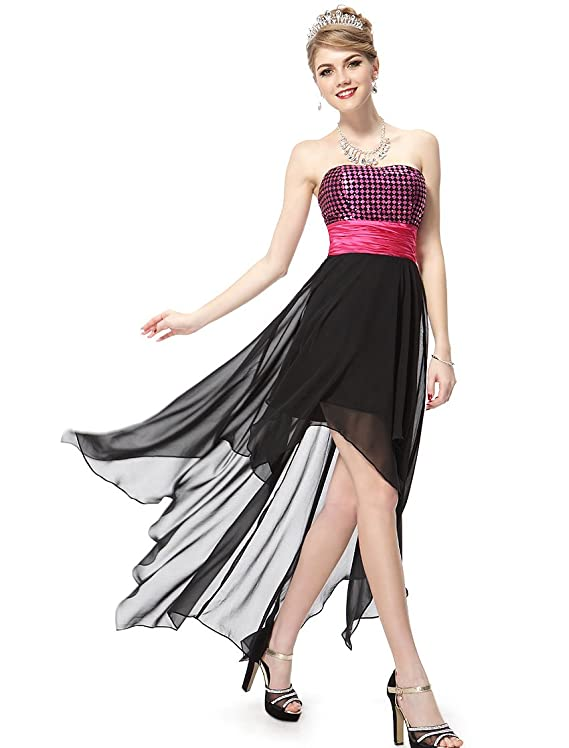 Ever Pretty Strapless Ruched Waist Hi-Lo Homecoming Dress 06132