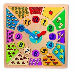 - diseño Pequeño del Pie 1828 Kunterbunt Reloj de Aprendizaje en BebeHogar.com