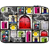 Snoogg Doors Close To Open 13 To 13.6 Inch Laptop Netbook Notebook Slipcase Sleeve