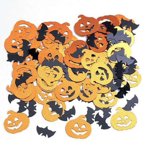 Bats & Pumpkin Confetti