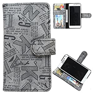 DooDa PU Leather Wallet Flip Case Cover With Card & ID Slots Lava Xolo A500