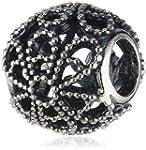 Pandora Glass Silver Charms 791282