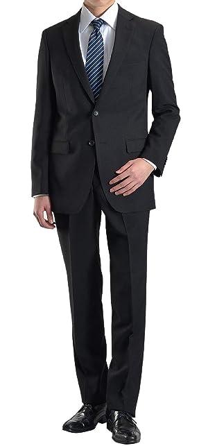 【MARUTOMI】リクルート スーツ メンズ 2ツボタン ビジネススーツ 就活 会社訪問 スリムスーツ 冠婚葬祭 礼服 フォーマルスーツ オールシーズン対応 洗えるパンツ ウォッシャブル プリーツ加工 リクルートスーツ ビジネス SC86