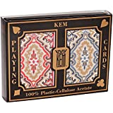 KEM Paisley Playing Cards: 2 Deck Set Red and Blue, Jumbo Index
