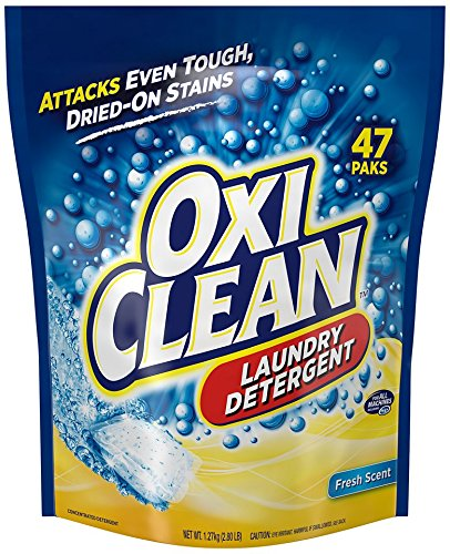 OxiClean HD Laundry Detergent Paks, Sparkling Fresh, 47 Count (Oxi Detergent compare prices)