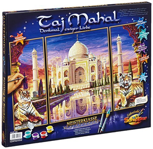 Taj Mahal Triptych Paint-by-Number Kit by Schipper