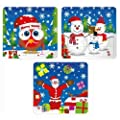 12 Christmas Puzzles - 25 Piece Mini Jigsaw Puzzle - Boys Girl Unisex Party Bag Fillers