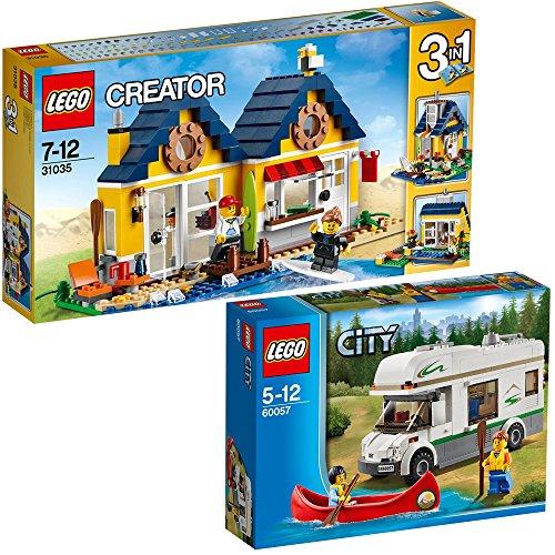 Lego City & Creator 2er Set 60057 31035 Wohnmobil mit Kanu + ...