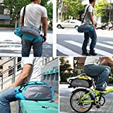 MeanHoo Bicycle Saddl Seatpost Bag Fashion Fixed Gear Fixie Pannier Saddle Rear Rack Seat Bag - Blue Practical New